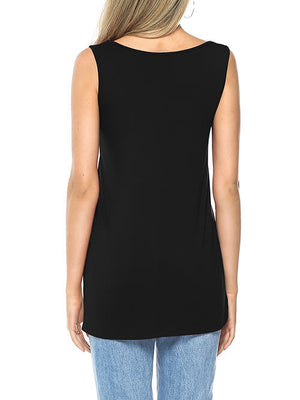 black tank shirt for women