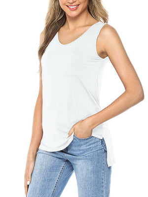 womens white tank tops