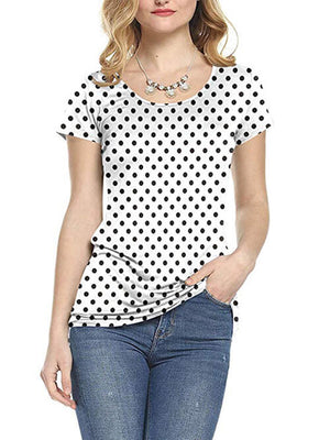 dot printed tops for women