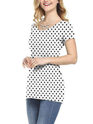 dot printed  women tshirts