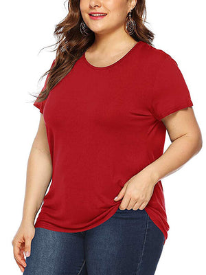 women plus size  red tops