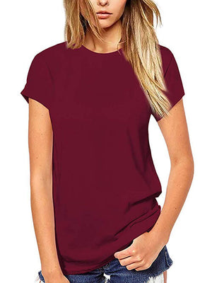 womens solid burgundy tops