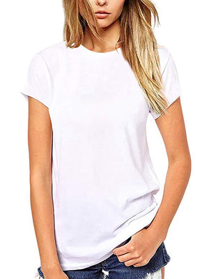 womens solid white tops