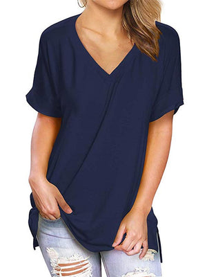 navy blue tops for women