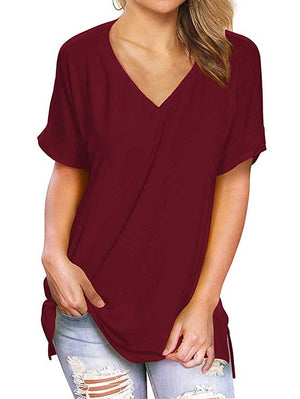 v neck women tops