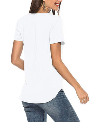 white criss cross women tshirts