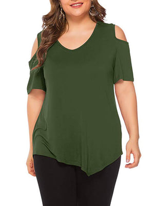 cold shoulder tshirts for women