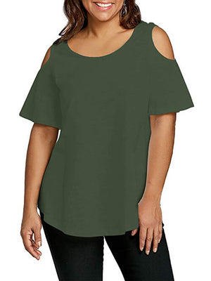 women's cold shoulder tees