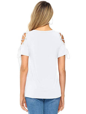 women's  white short sleeve tops