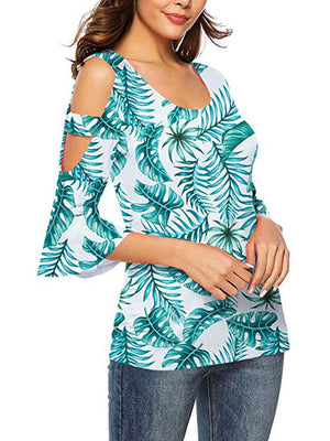 green leaf tops for women