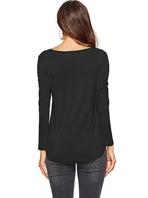 black criss cross blouse for women