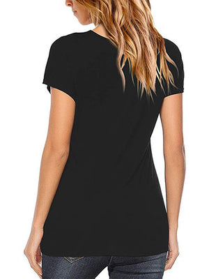 womens black criss cross tees