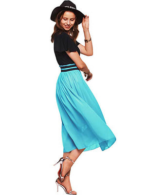 Blue Summer Midi Dress for Women