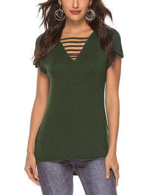 Summer Criss Cross T Shirts for Women