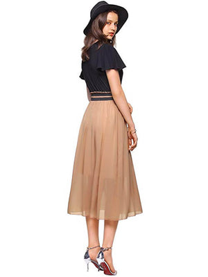 Black Khaki Casual Dresses for Women