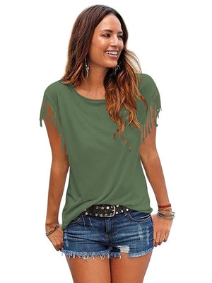Ladies Top Olive Green