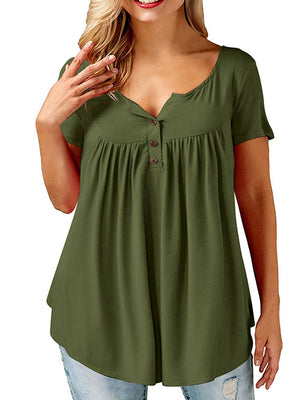 Olive Green Tees and Tops Plus Size