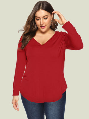 Plus Size Red Shirt