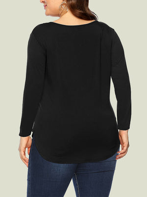 Plus Size Tops Black
