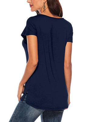 Criss Cross Tees Navy