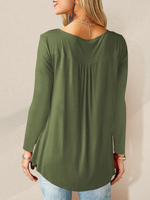 Women Long Sleeve Shirts Green