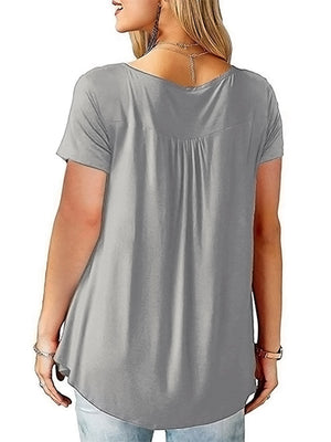 Womens Tunic Top Plus Size Grey