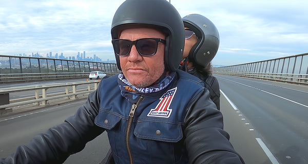 The 'Million Dollar Bogan' reviewed our 'Burke' Helmet