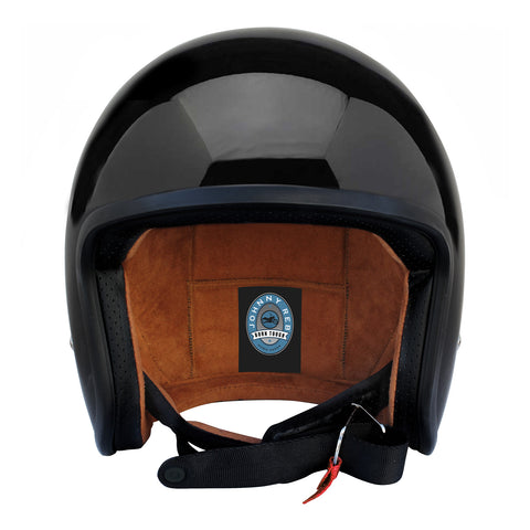 Burke Helmet - Gloss Blk/Brown lining