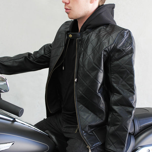 Men's Rocky Valley Leather Jacket | Removable Hood