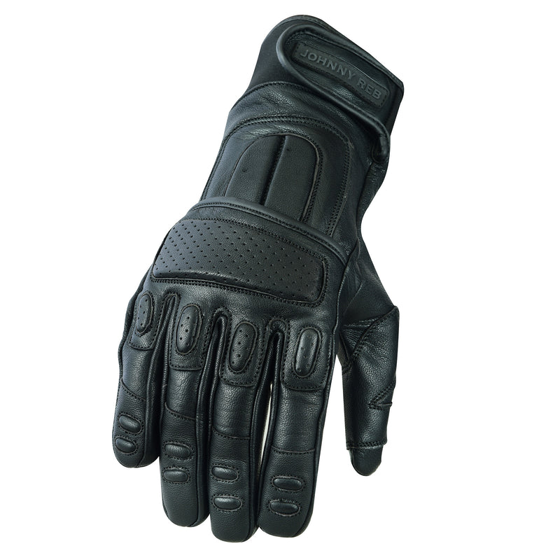 Olga Perforated Padded Leather Gloves