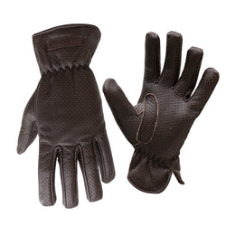 Epping Leather Perforated Gloves | Brown