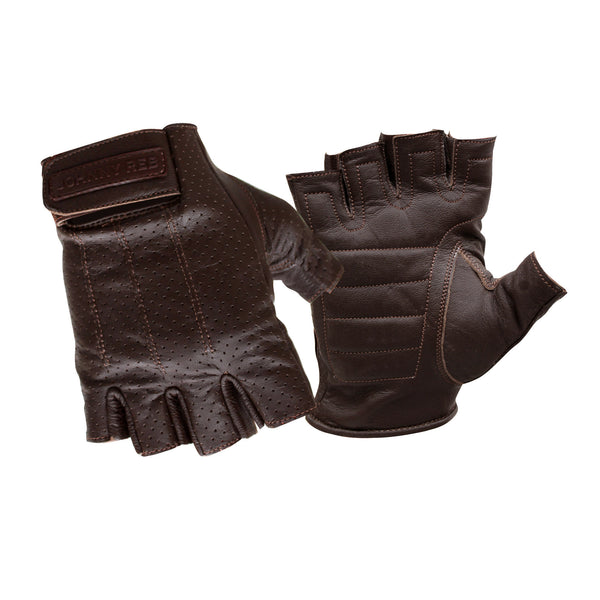 Sandover Perforated Fingerless Gloves | Brown