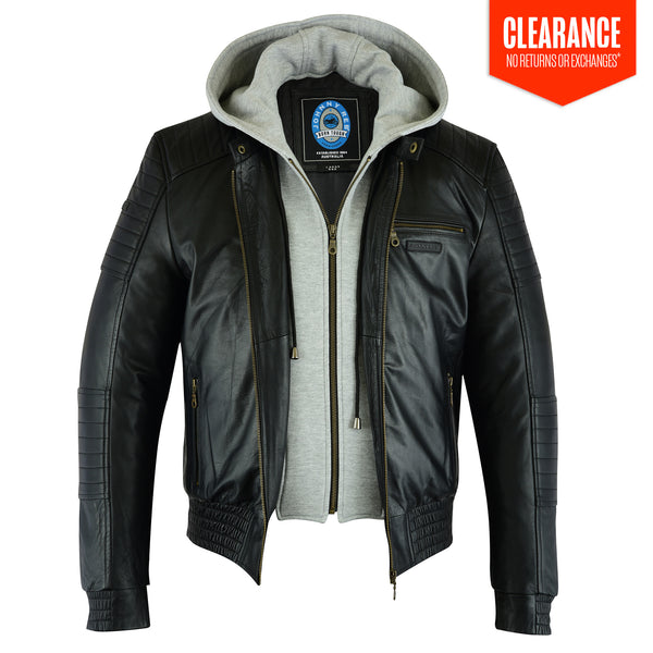 Men's Alpine Leather Jacket | Removable Hood