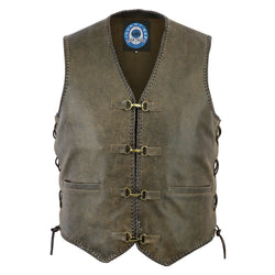 Men's Sturt Cracker Leather Vest