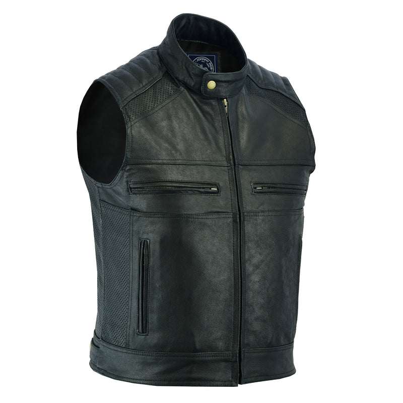 Men's Botany Vintage Leather Vest