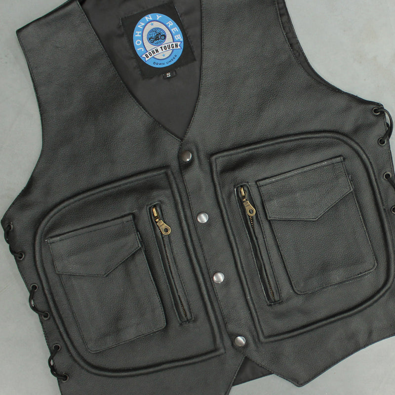 Men's Kangaroo Valley Leather Vest