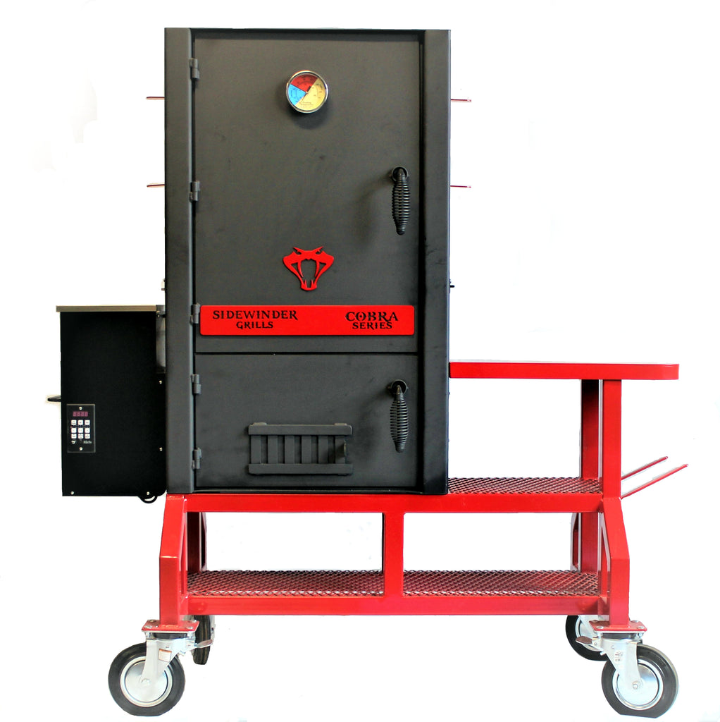 Cobra Series Vertical Cabinet Pellet Feed Smoker.  Converts to conventional smoker.