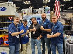 Icey-Tek USA coolers CEO Patrick Mudge with Navy SEAL Fund VP Thomas Dzerian and the ICEY-TEK crew at ATA 2020
