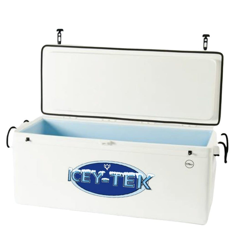 ICEY-TEK Classic 170 Quart RotoMolded Long Box Cooler - White