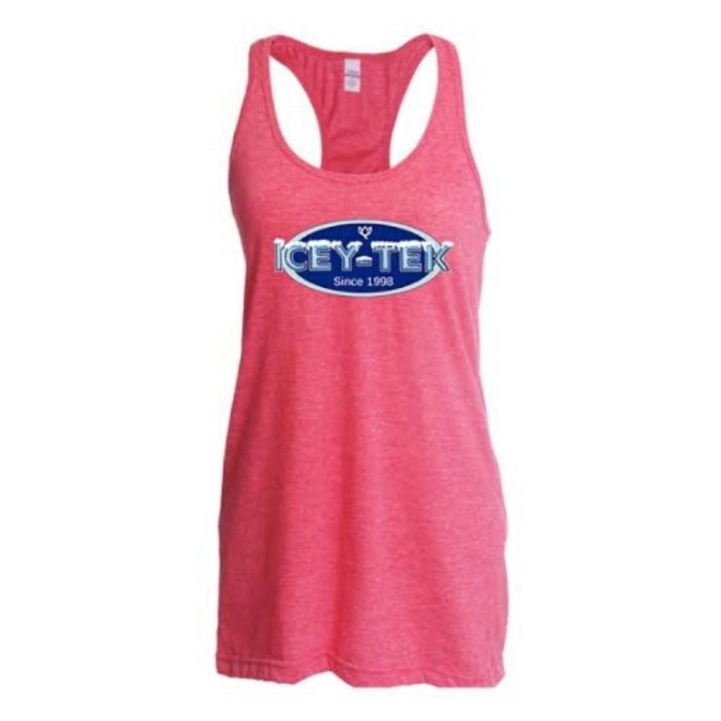 ICEY-TEK Ladies Racer Back Tank Top - Pink