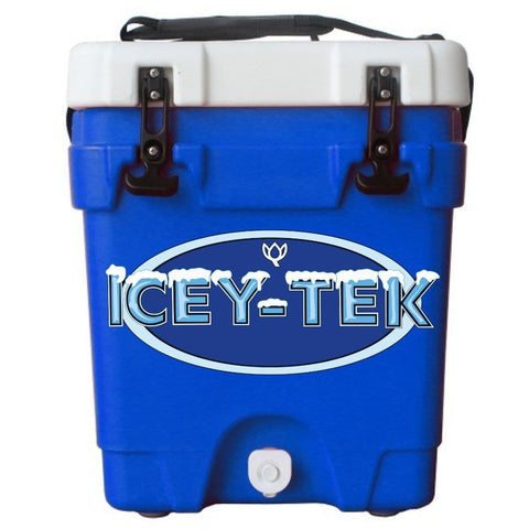 Blue ICEY-TEK 20 QT 5 Gallon Rugged Water Cooler