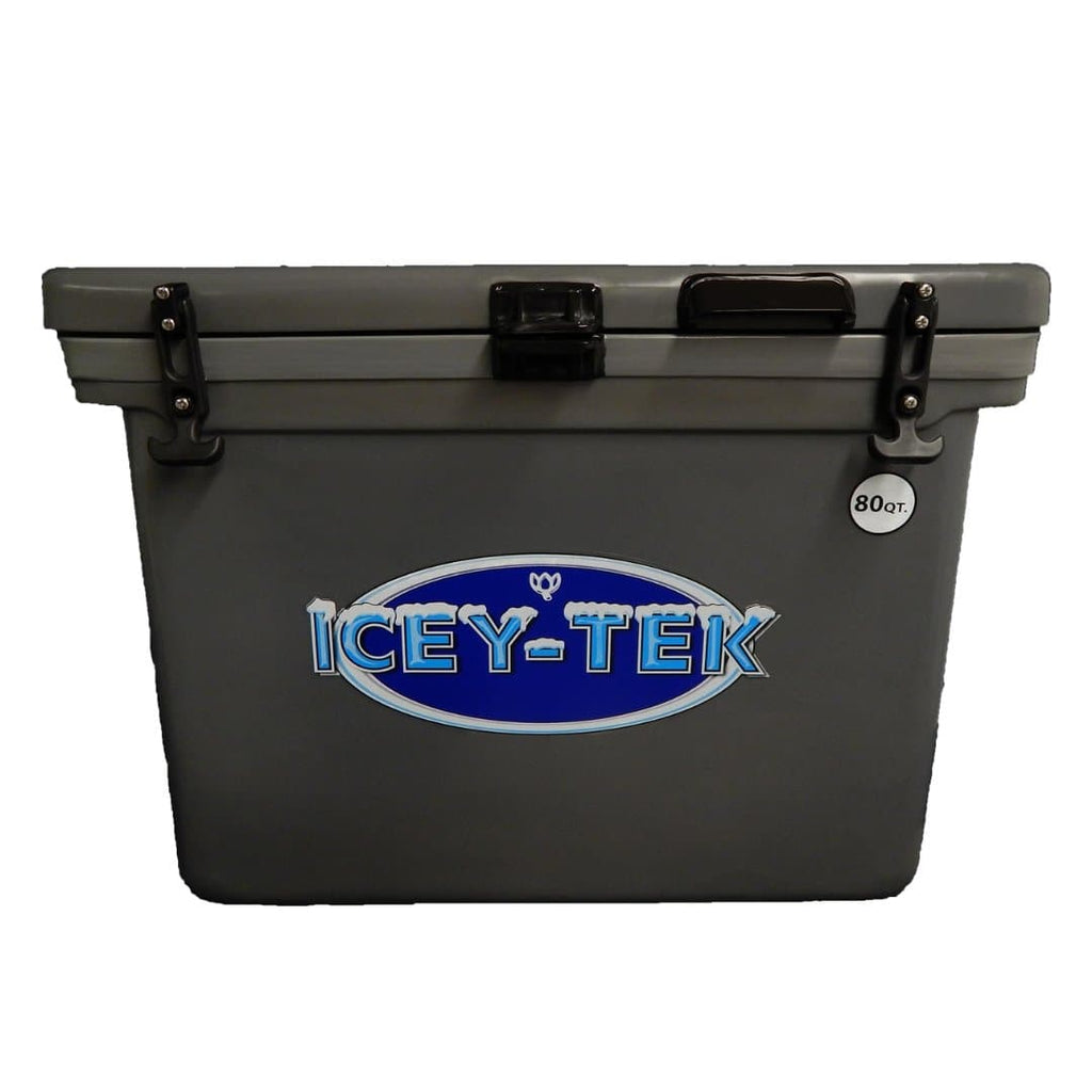 ICEY-TEK Classic 80 Quart Roto-Molded Cooler - Grey
