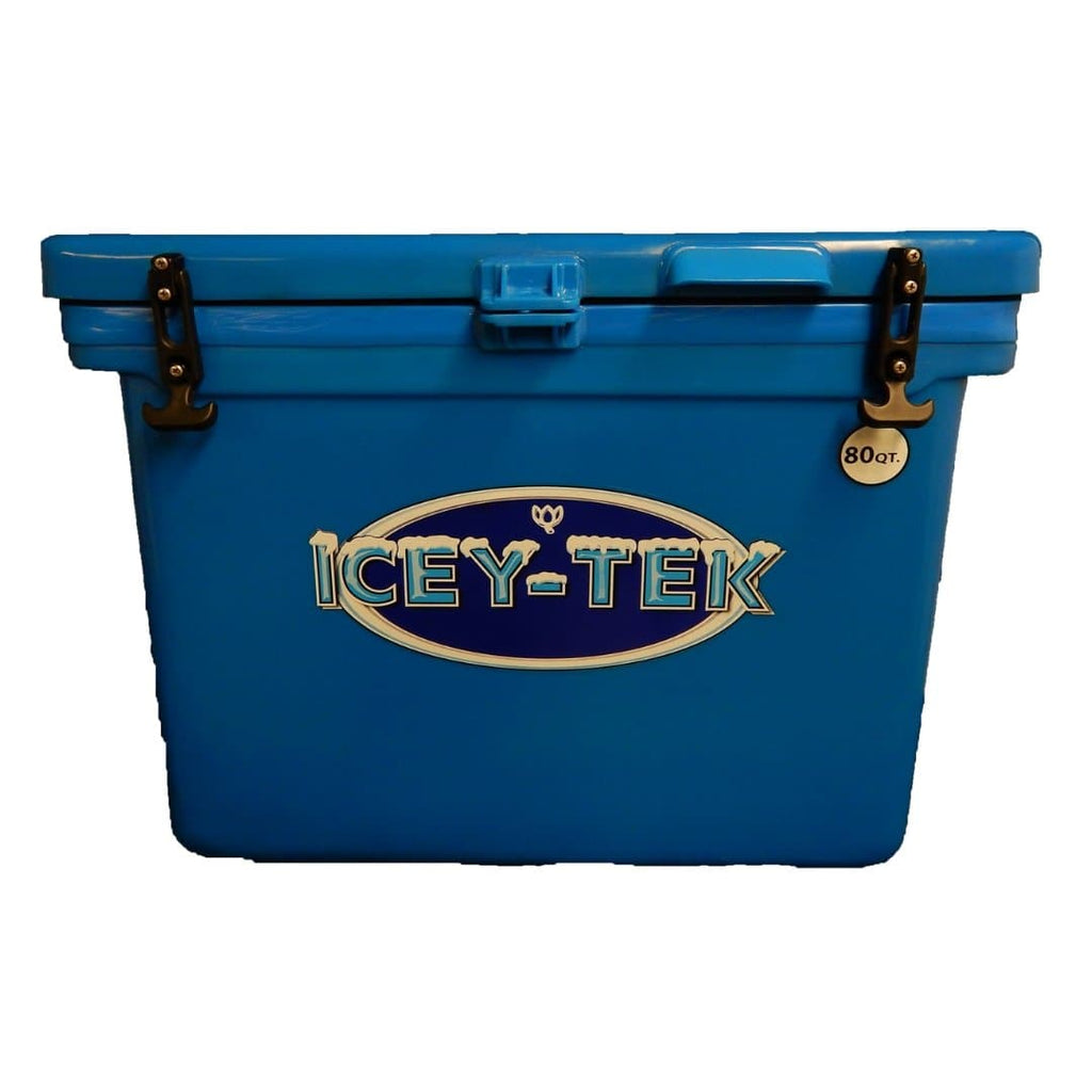 ICEY-TEK Classic 80 Quart Roto-Molded Cooler - Ocean Blue - Light Blue