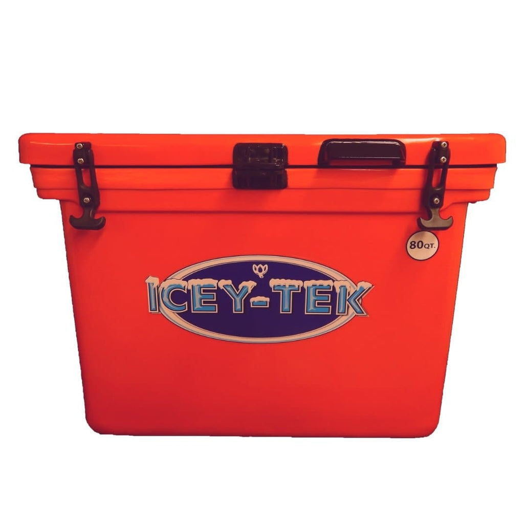 ICEY-TEK Classic 80 Quart Roto-Molded Cooler - Orange