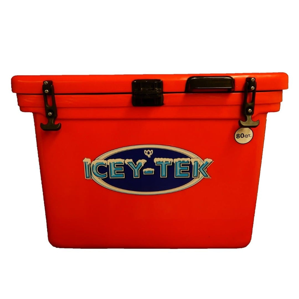 ICEY-TEK Classic 80 Quart Roto-Molded Cooler - Red