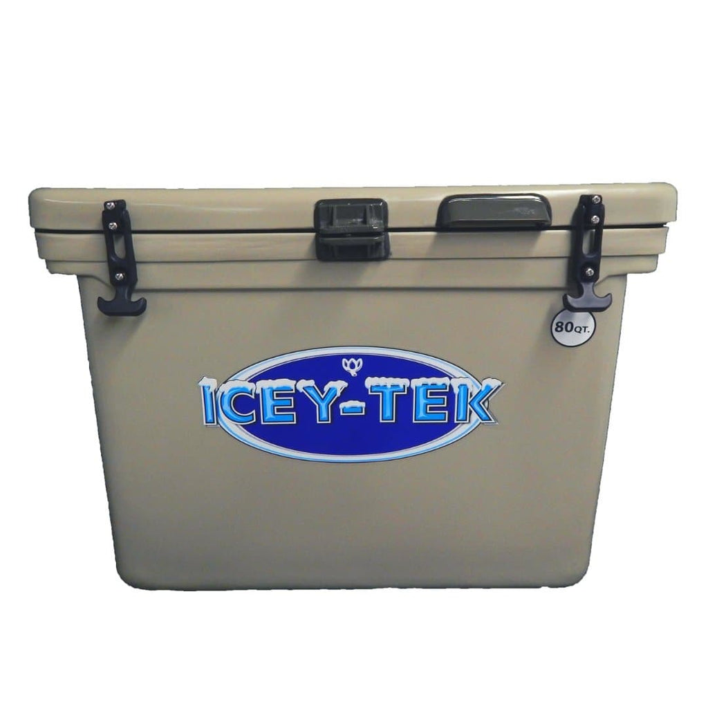 ICEY-TEK Classic 80 Quart Roto-Molded Cooler - Tan