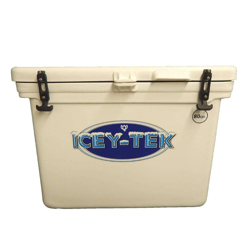 Icey-Tek White 80 Quart Ice Chest Cooler - Cube Style