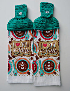 I Love You A Latte Hanging Kitchen Towel Set