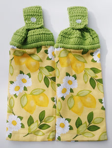Lemons & Daisies Hanging Kitchen Towel Set