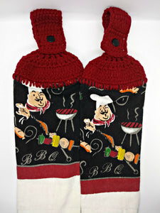BBQ Chef Hanging Kitchen Towel Set